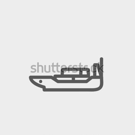 Jackknife line icon. Stock photo © RAStudio