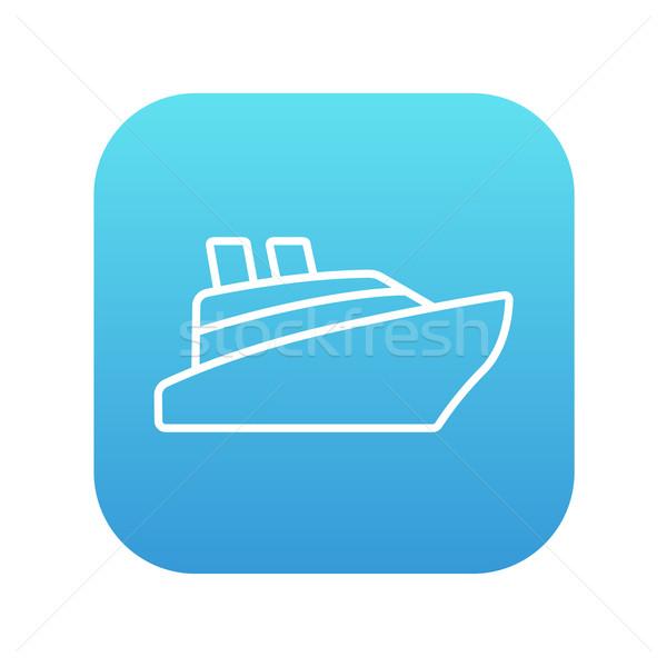Cruiseschip lijn icon web mobiele infographics Stockfoto © RAStudio