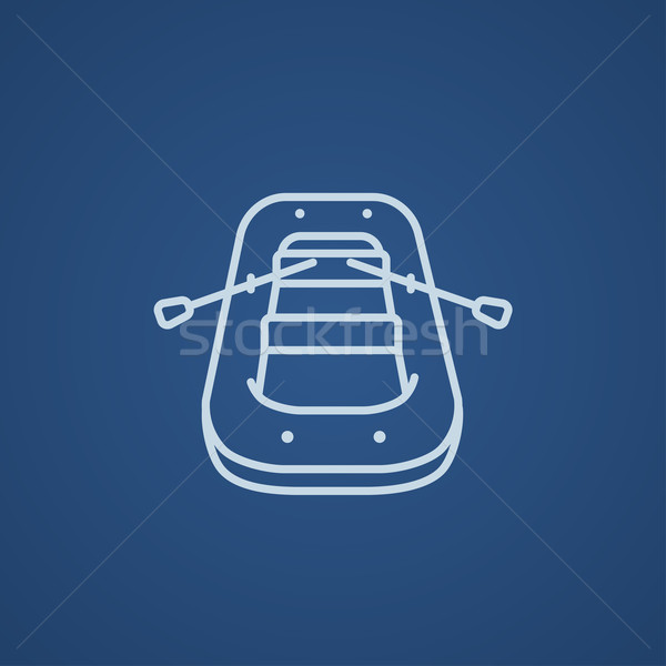 インフレータブル ボート 行 アイコン ウェブ 携帯 ストックフォト © RAStudio