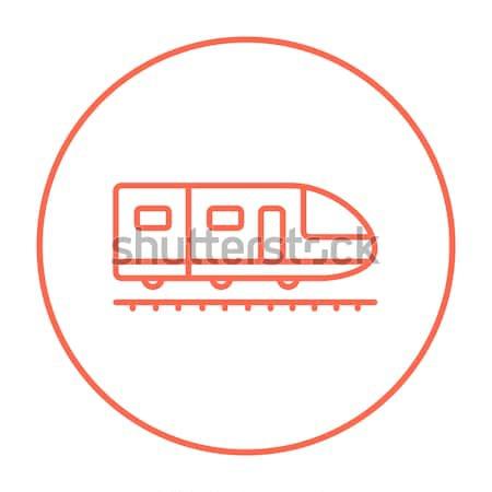 Moderno trem linha ícone teia Foto stock © RAStudio