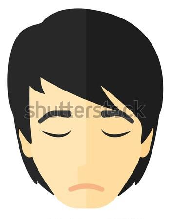 Krzyczeć agresywny człowiek wektora projektu ilustracja Zdjęcia stock © RAStudio