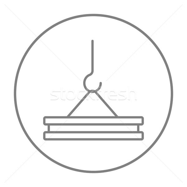 Crane hook line icon. Stock photo © RAStudio