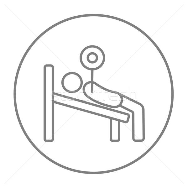 Adam bank halter hat ikon Stok fotoğraf © RAStudio