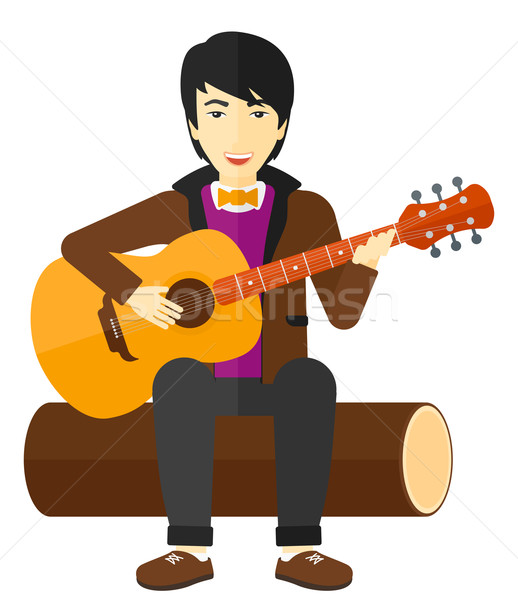 Man playing guitar. Stock photo © RAStudio