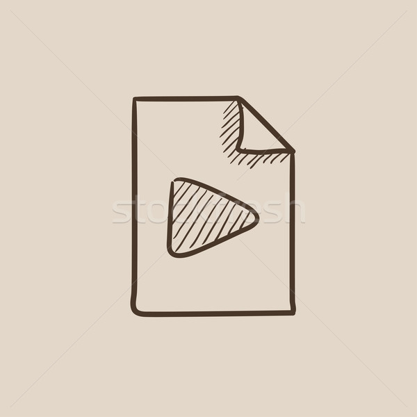 Audio file sketch icon. Stock photo © RAStudio
