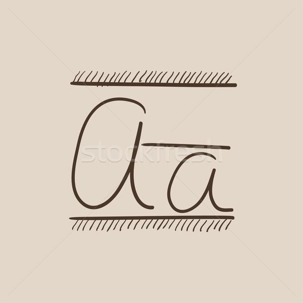 Mektup kroki ikon web hareketli infographics Stok fotoğraf © RAStudio