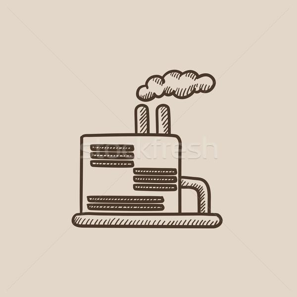 Raffineria impianto sketch icona web mobile Foto d'archivio © RAStudio