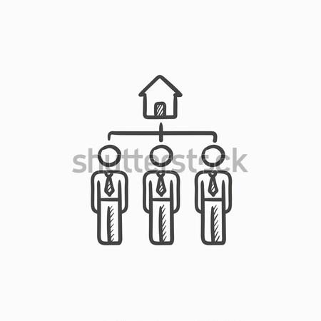 Three real estate agents sketch icon. Stock photo © RAStudio
