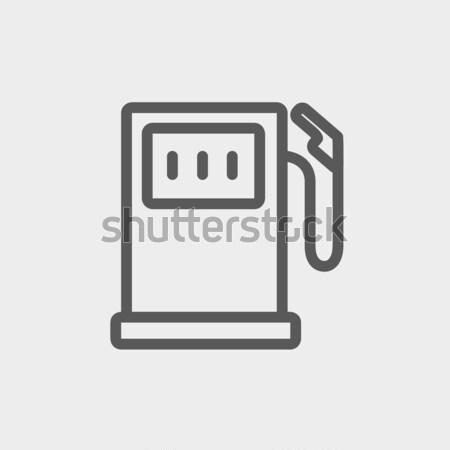 Tankstation lijn icon hoeken web mobiele Stockfoto © RAStudio