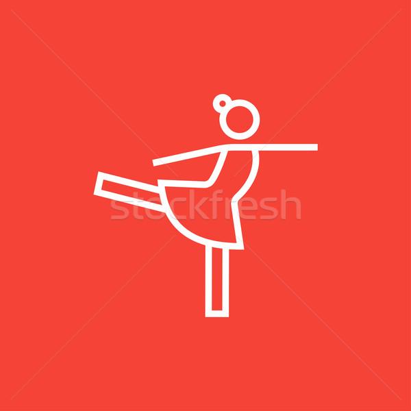 женщины Рисунок фигурист линия икона уголки Сток-фото © RAStudio