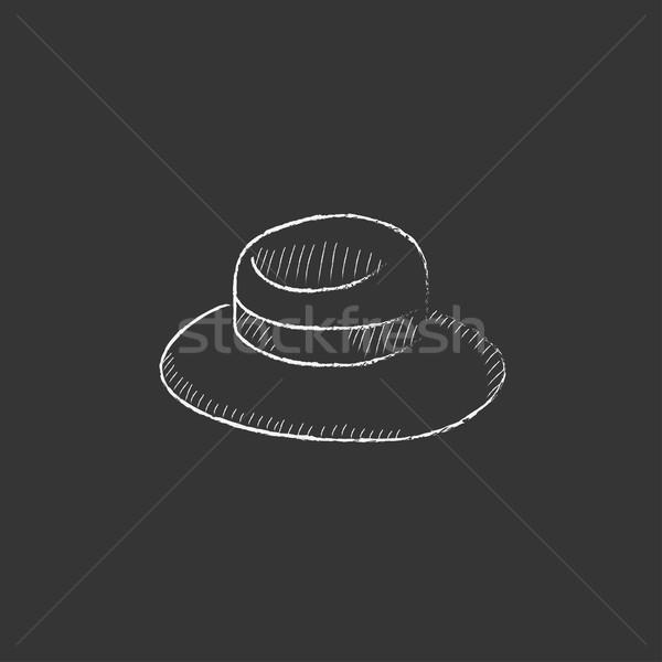 Summer hat. Drawn in chalk icon. Stock photo © RAStudio