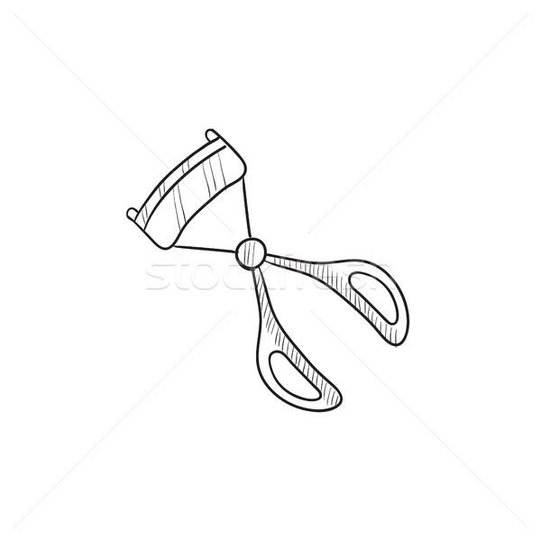 Szempilla rajz ikon vektor izolált kézzel rajzolt Stock fotó © RAStudio