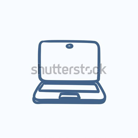 Laptop sketch icon. Stock photo © RAStudio