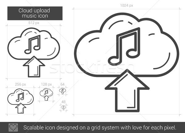 облаке музыку линия икона вектора Сток-фото © RAStudio
