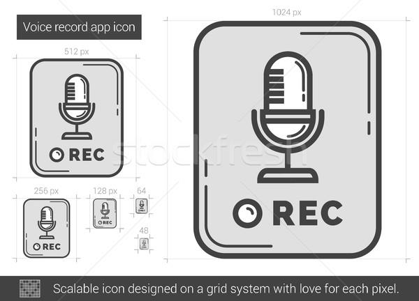 音声 レコード アプリ 行 アイコン ベクトル ストックフォト © RAStudio