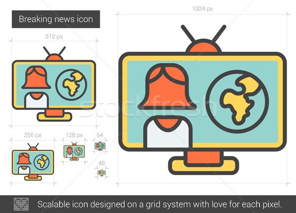 Breaking news line icon. Stock photo © RAStudio