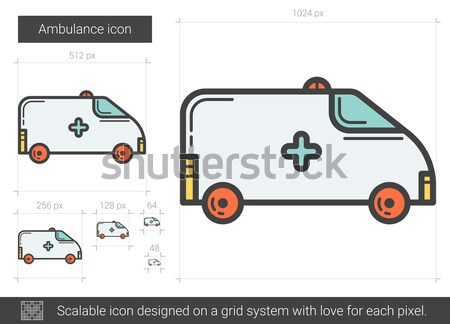 Ambulance auto lijn icon vector geïsoleerd Stockfoto © RAStudio