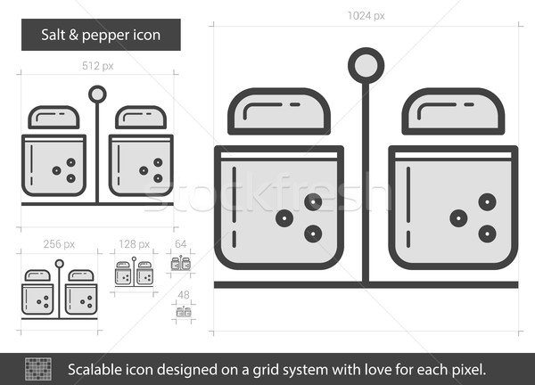 Salt and pepper line icon. Stock photo © RAStudio