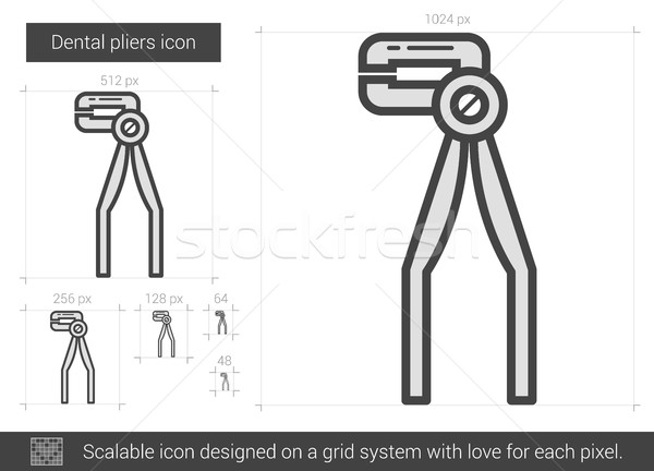Dental pliers line icon. Stock photo © RAStudio