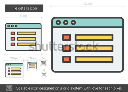 File details line icon. Stock photo © RAStudio