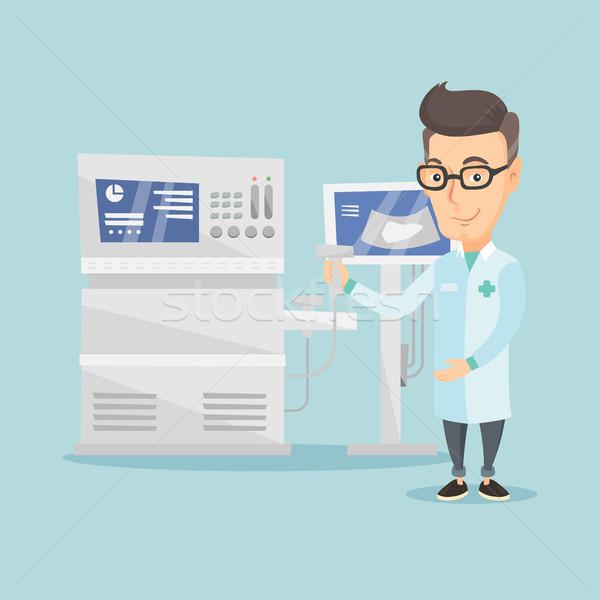 мужчины ультразвук врач сканер стороны оператор Сток-фото © RAStudio
