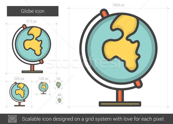 Globe line icon. Stock photo © RAStudio