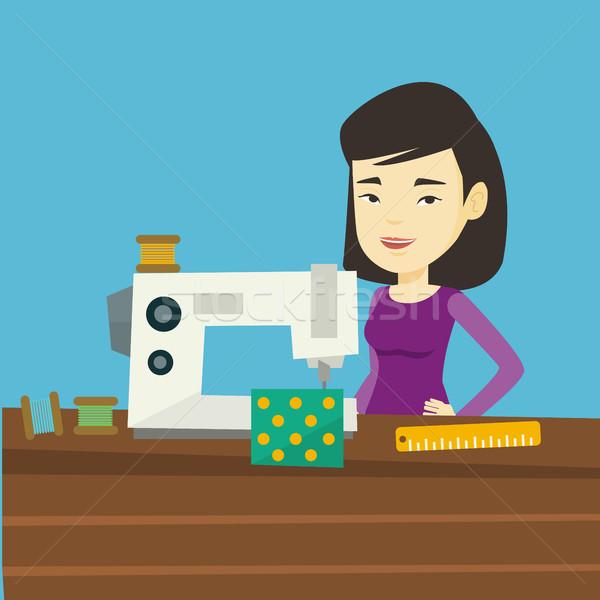 ミシン ワークショップ アジア 作業 布 工場 ストックフォト © RAStudio