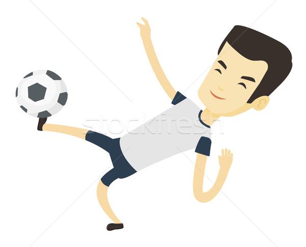 Futbolista pelota jóvenes Asia juego Foto stock © RAStudio