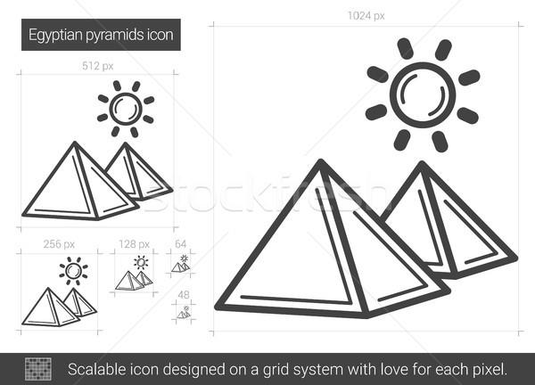 Egyptian pyramid line icon. Stock photo © RAStudio