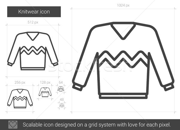 Knitwear line icon. Stock photo © RAStudio