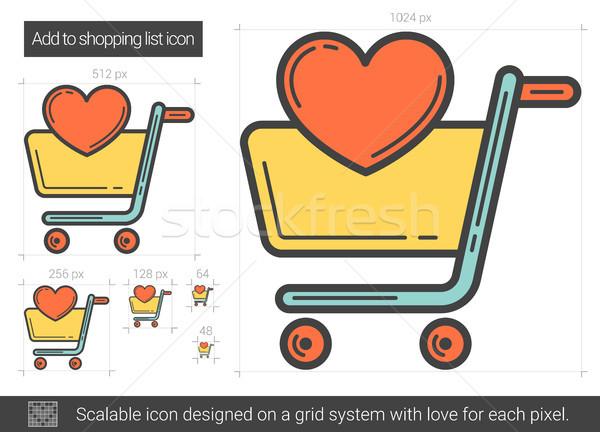 Add to shopping list line icon. Stock photo © RAStudio
