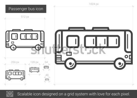 Autobus line ikona wektora odizolowany biały Zdjęcia stock © RAStudio