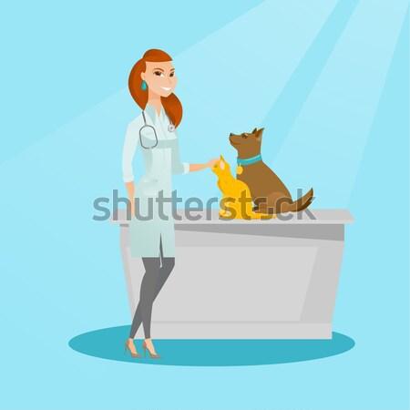 ветеринар собака мусульманских больницу сердцебиение Сток-фото © RAStudio