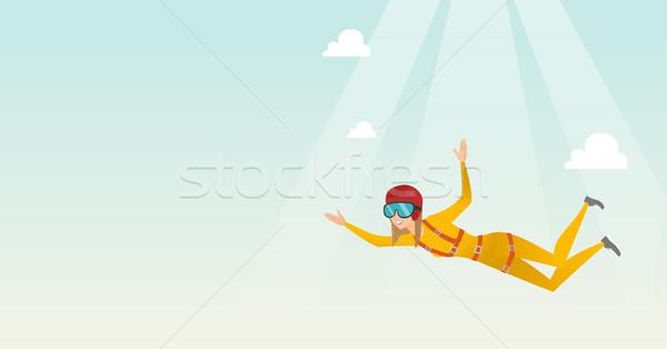 Kaukázusi ugrik ejtőernyő profi zuhan levegő Stock fotó © RAStudio