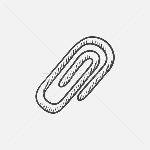 Simge kroki ikon ataş web hareketli Stok fotoğraf © RAStudio