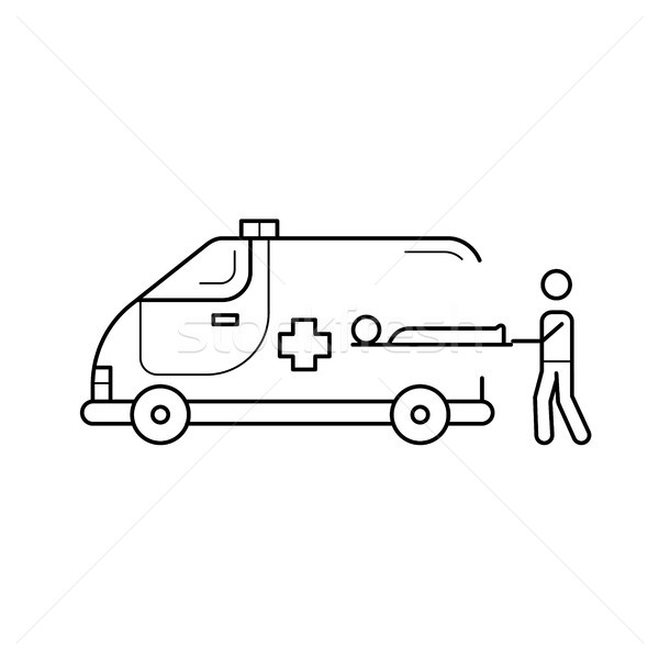 Stock photo: Ambulance line icon.