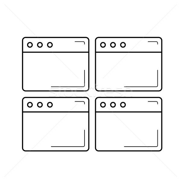 Múltiple línea icono aislado blanco Foto stock © RAStudio
