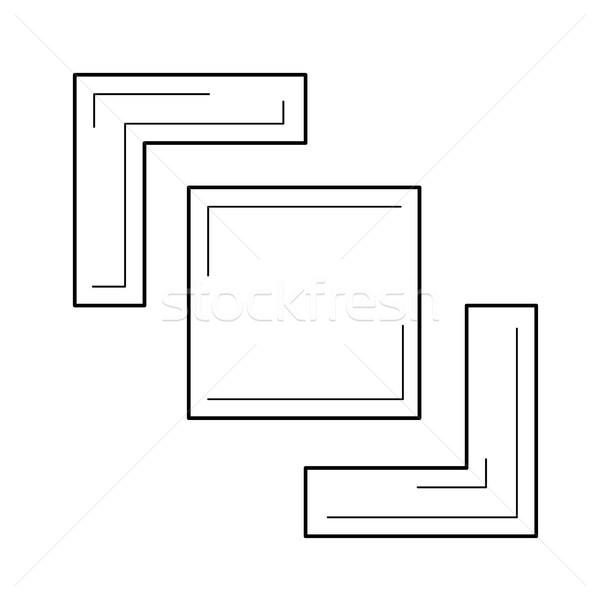 Crop image line icon. Stock photo © RAStudio