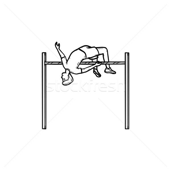 Atleet hoogspringen schets doodle Stockfoto © RAStudio