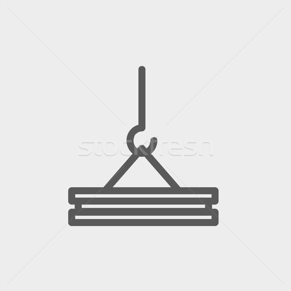 Crane thin line icon Stock photo © RAStudio