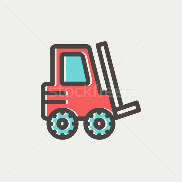 Forklift truck thin line icon Stock photo © RAStudio