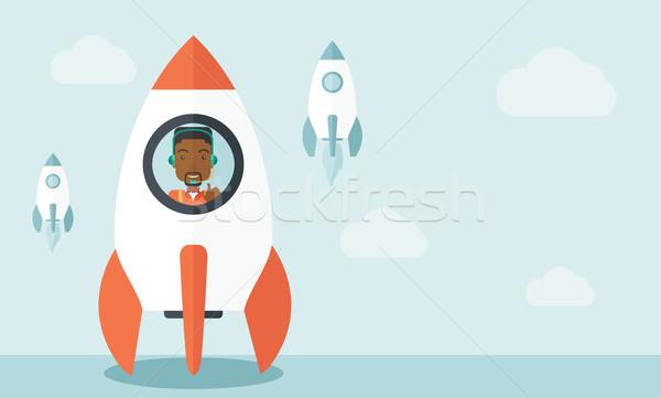 Negro tipo línea negocios inicio hasta Foto stock © RAStudio