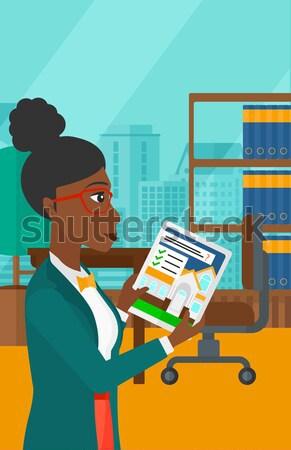 Affaires idée noir affaires travail bureau Photo stock © RAStudio