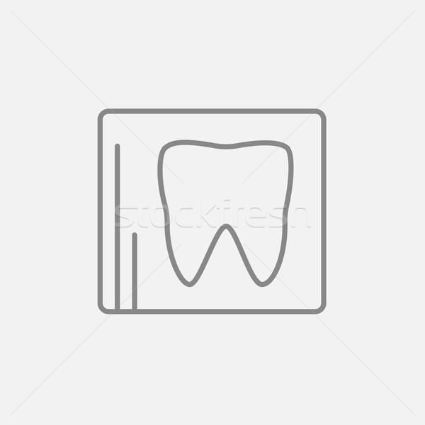X-ray of tooth line icon. Stock photo © RAStudio
