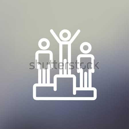 подиум линия икона Постоянный веб Сток-фото © RAStudio