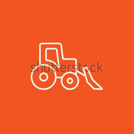 ブルドーザー 行 アイコン ウェブ 携帯 インフォグラフィック ストックフォト © RAStudio