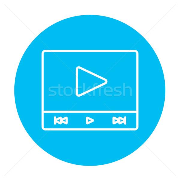 Video player line icon. Stock photo © RAStudio