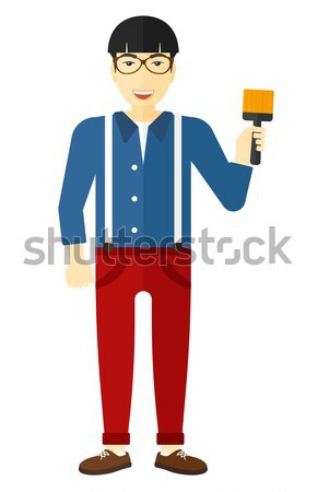 Painter with paint brush. Stock photo © RAStudio