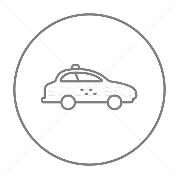 Taksi araba hat ikon web hareketli Stok fotoğraf © RAStudio