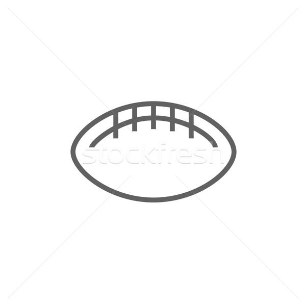 Rögbi futball labda vonal ikon sarkok Stock fotó © RAStudio